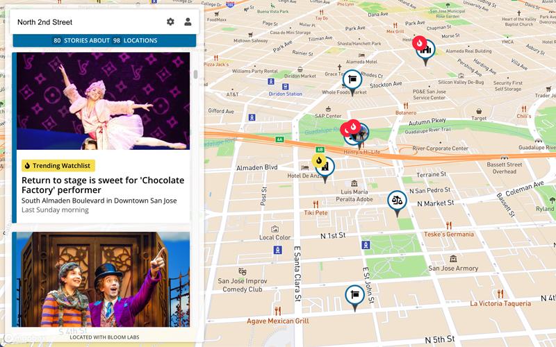 Interactive News Map